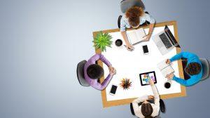 Brainstorming, teamwork, university.